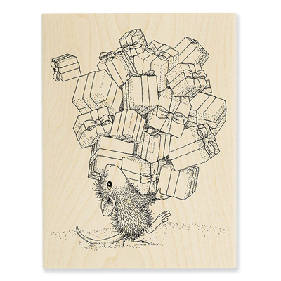 GIFTS GALORE - House-Mouse Rubber Stamp