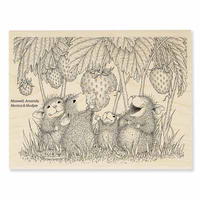 STRAWBERRY TREAT - House-Mouse Rubber Stamp