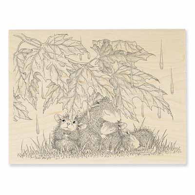 RAINFALL SHELTER - House-Mouse Rubber Stamp