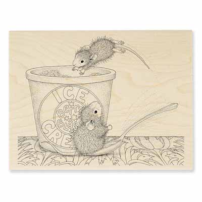 DESSERT DIVE - House-Mouse Rubber Stamp