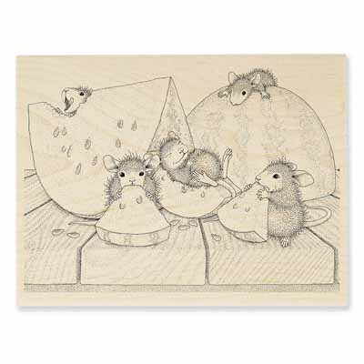 SUMMER SNACKING - House-Mouse Rubber Stamp
