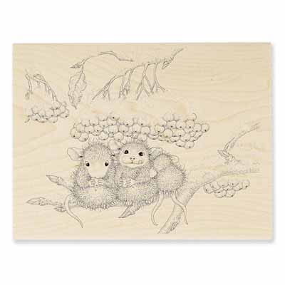 Berry Nibbles - House-Mouse Rubber Stamp
