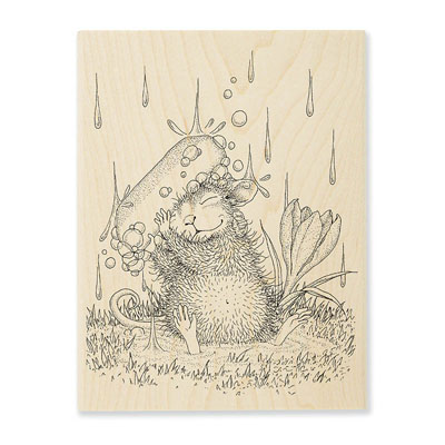 Soapy Smile - House-Mouse Rubber Stamp