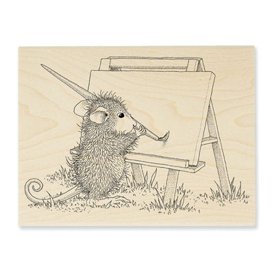 Outdoor Painter - House-Mouse Rubber Stamp