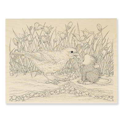 Berry Birdie Rubber Stamp - House-Mouse Rubber Stamp