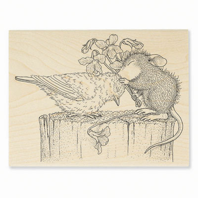 BIRDIE KISS - House-Mouse Rubber Stamp