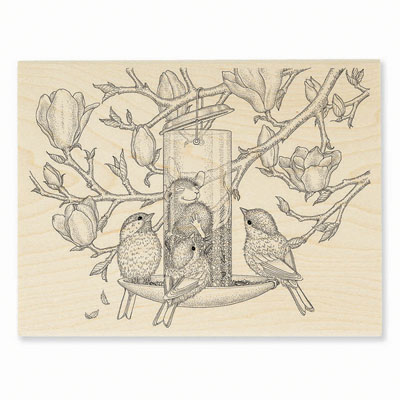 FULLY CONTENT - House-Mouse Rubber Stamp