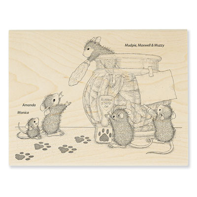 Cookie Bandits - House-Mouse Rubber Stamp