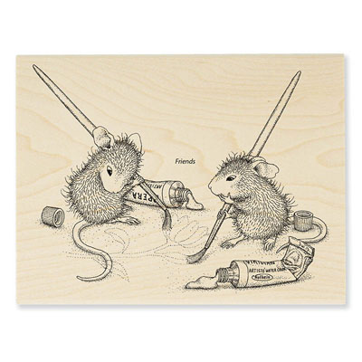 Painting Pals - House-Mouse Rubber Stamp