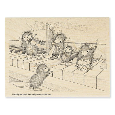 Musical Mice - House-Mouse Rubber Stamp