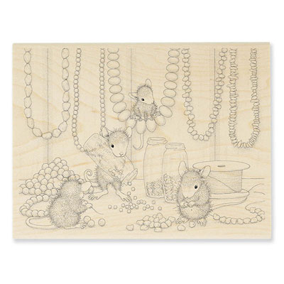 Jewelry Making - House-Mouse Rubber Stamp