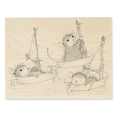 Teacup Sailing - House-Mouse Rubber Stamp