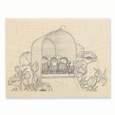 MAILBOX SHOWERS - House-Mouse Rubber Stamp