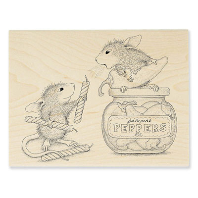 PEPPER POWER - House-Mouse Rubber Stamp