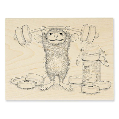 SWEET WORKOUT - House-Mouse Rubber Stamp