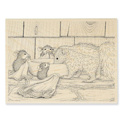 ODORABLE FRIEND - House-Mouse Rubber Stamp