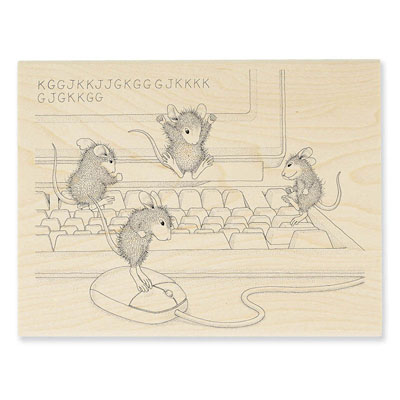 COMPUTER MICE - House-Mouse Rubber Stamp