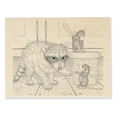 ICE CREAM BANDIT - House-Mouse Rubber Stamp