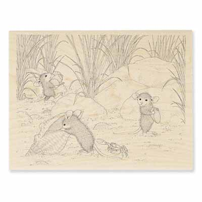 SHELL SEARCH - House-Mouse Rubber Stamp
