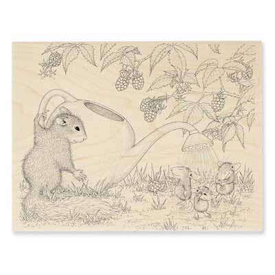 SQUIRREL SHOWERS - House-Mouse Rubber Stamp