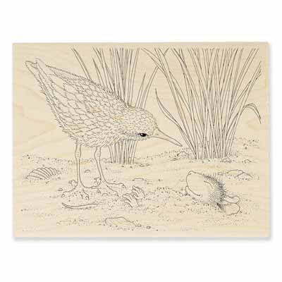 SANDPIPER HELLO - House-Mouse Rubber Stamp
