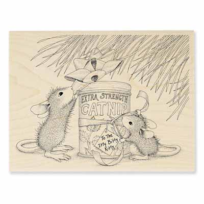 CATNIP GIFT - House-Mouse Rubber Stamp