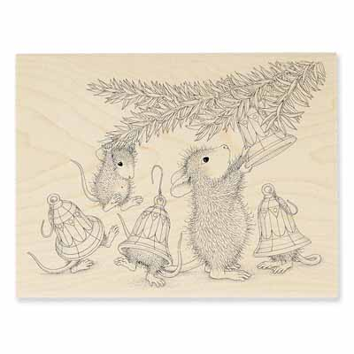 BELL DECORATIONS - House-Mouse Rubber Stamp