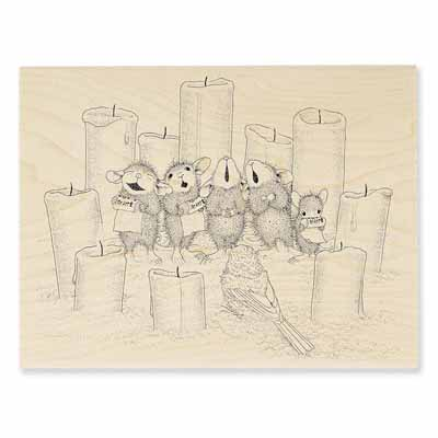 CANDLE CHORUS - House-Mouse Rubber Stamp