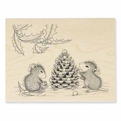 BERRY DECORATIONS - House-Mouse Rubber Stamp