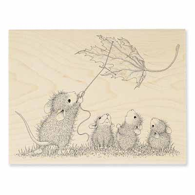 LEAF KITE - House-Mouse Rubber Stamp