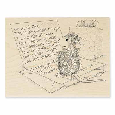DEAREST ONE - House-Mouse Rubber Stamp