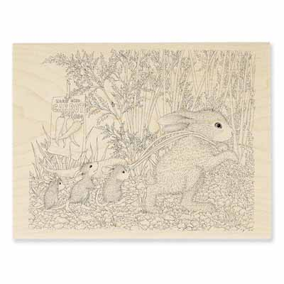 CARROT GARDEN - House-Mouse Rubber Stamp