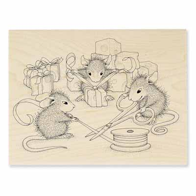 CHEESE WRAPPERS - House-Mouse Rubber Stamp