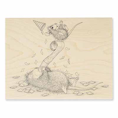 PARTY BLOWOUT - House-Mouse Rubber Stamp