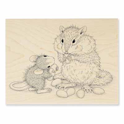 CHIPMUNK TREAT - House-Mouse Rubber Stamp