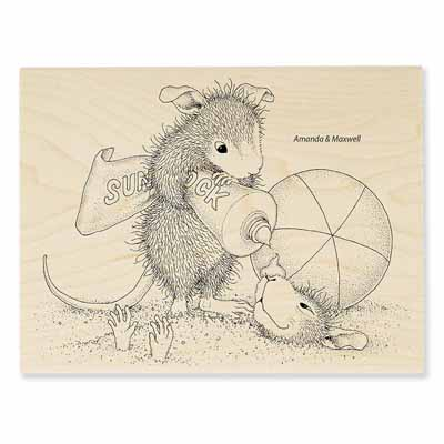 SUNBLOCK SQUIRT - House-Mouse Rubber Stamp