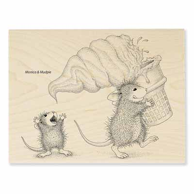 SOFT SERVE SPILL - House-Mouse Rubber Stamp