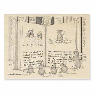 MUDPIE TALE - House-Mouse Rubber Stamp