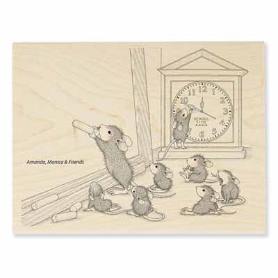 TEACHER TIME - House-Mouse Rubber Stamp