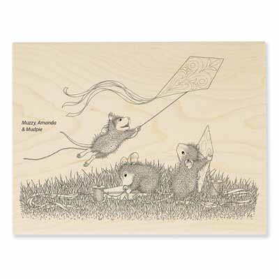 KITE FLIGHT - House-Mouse Rubber Stamp
