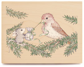 - House-Mouse Rubber Stamp