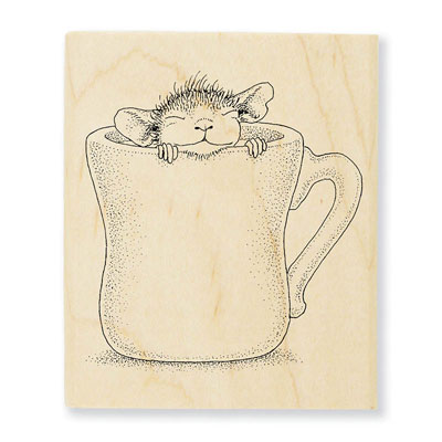 WARM CUP - House-Mouse Rubber Stamp