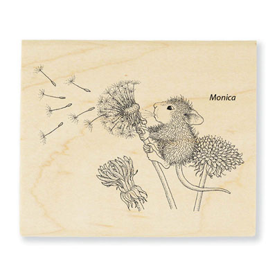 Make A Wish - House-Mouse Rubber Stamp