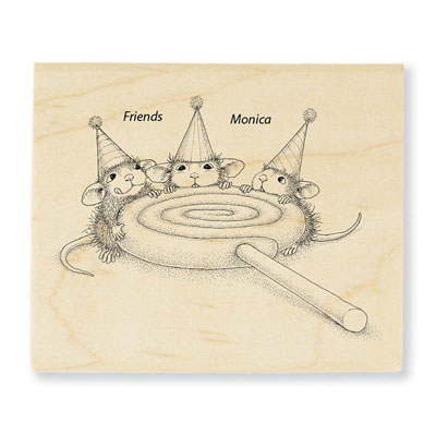 Lollipop Lunch - House-Mouse Rubber Stamp