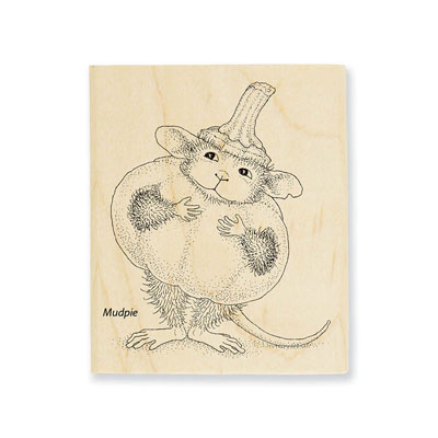 PUMPKIN MOUSE - House-Mouse Rubber Stamp