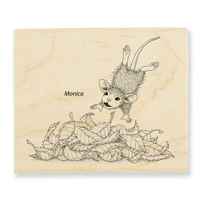 LEAF PLUNGE - House-Mouse Rubber Stamp