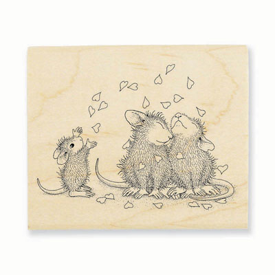 SHOWER OF LOVE - House-Mouse Rubber Stamp