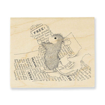 CLASSIFIED AD - House-Mouse Rubber Stamp