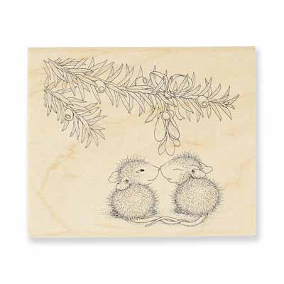 Christmas Kiss - House-Mouse Rubber Stamp