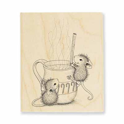 Warm Drink - House-Mouse Rubber Stamp